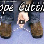 VIDEO: Kā pārgriezt auklu bez šķērēm un naža
