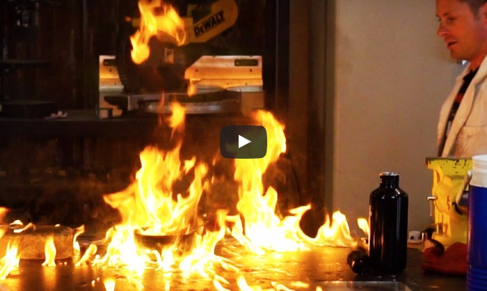 VIDEO: Kā deg sasaldēts benzīns